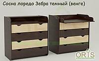 Детский комод-пеленатор ORIS-4 (Комбинированный зебра темный)