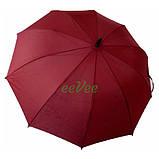 Зонт трость женский Flagman Звездное Небо полуавтомат 10 карбоновых спиц купол 112 см Бордовый, фото 3