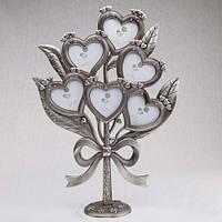 """Большое семейное дерево """"Сердца""""41 см (мельхиор)"""