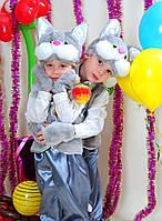 """Детский карнавальный костюм """"Котик"""" серый"""
