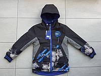Курточка весняна пряма на хлопчика 116-140 в роздріб, фото 1