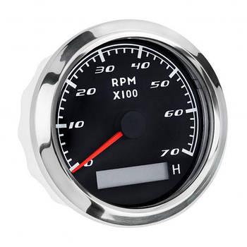 Тахометр з лічильником мотогодин I GAUGE 85MM 0-7000 RPM (чорний) LED дисплей