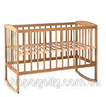Детская кроватка «Гойдалка» с дугами (Бук)