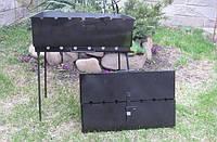 Мангал-чемодан на 6 шампуров, 3 мм, фото 1