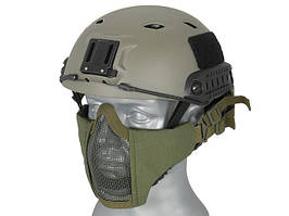 Маска Stalker Evo с монтажом для шлема FAST - Olive Drab [Ultimate Tactical] (для страйкбола)