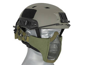 Маска Stalker Evo с монтажом для шлема FAST - Olive Drab [Ultimate Tactical] (для страйкбола), фото 3