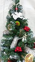 Новогодний венок в виде елки - украшение на двери, 175/165, 77см (цена за 1 шт. + 10 грн.)
