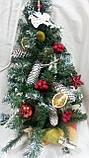 Новогодний венок в виде елки - украшение на двери, 175/165, 77см (цена за 1 шт. + 10 грн.), фото 2