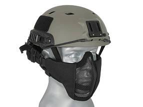 Маска Stalker Evo с монтажом для шлема FAST - black [Ultimate Tactical] (для страйкбола), фото 3