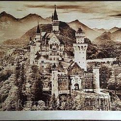 Замок (Пірографія) 400 х 400мм