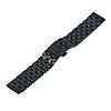 Универсальный металлический браслет для часов 22мм черного цвета, фото 2