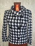 Трендовий турецький чорно - білий жіночий двобортний піджак, фото 2