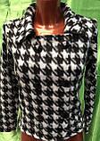 Трендовий турецький чорно - білий жіночий двобортний піджак, фото 7