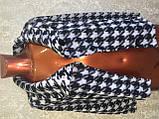 Трендовий турецький чорно - білий жіночий двобортний піджак, фото 5