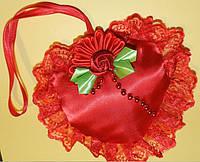 Сердце Валентинка, ручная работа. Подарок на 14 февраля