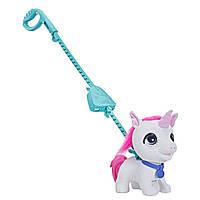 Интерактивная игрушка каталка FurReal Friends Большой Единорог на поводке Walkalots Big Wags Unicorn Hasbro