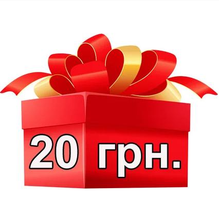 20 грн. на мобильный счет за положительный отзыв о компании (при условии покупки другого товара)