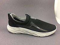 Мужские кроссовки сетка чорние на лето 40-46 р
