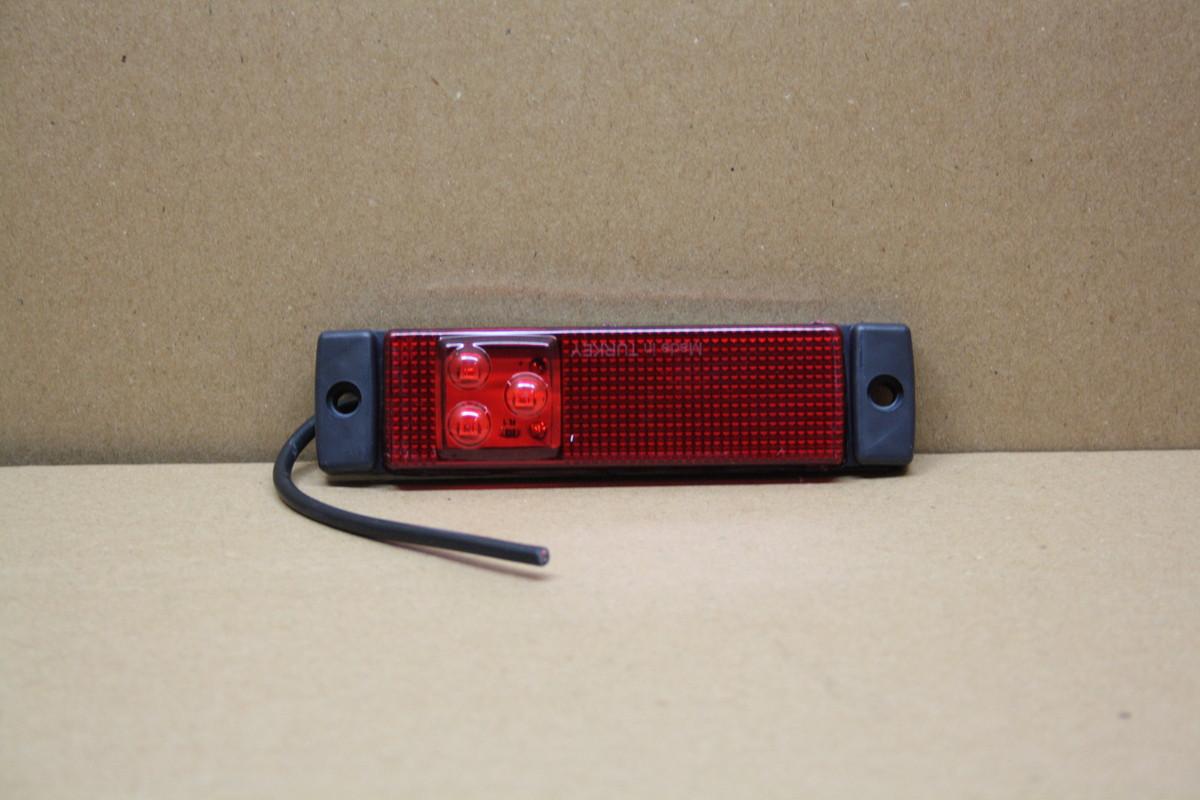 Габаритний 3-х діодний ліхтар червоний 0194