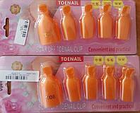 Набор зажимов для снятия гель-лака для ног (цена за упаковку из 5 зажимов), фото 1