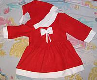 Новогодний костюм Санты для девочки, фото 1