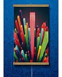 Настінний обігрівач картина Кольорові Кристали, фото 2
