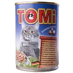 TOMi ЛОСОСЬ ФОРЕЛЬ (salmon&trout) консервы корм для кошек, банка 400гр