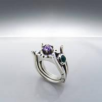 """Обручальное кольцо """"Galaxy LX"""" с драгоценными камнями от WickerRing"""
