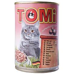 TOMi МЯСО (veal) консервы корм для кошек, банка 400гр