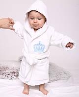"Банный махровый халат ""queen"" 104-116 (4-6 років) Brilliant Baby"