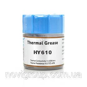 Паста термопровідна HY-610 15g, банку, Gold,> 3,05W / m-K, <0.073 ° C-in² / W, -30 ° ≈280 °, В'язкість -1K