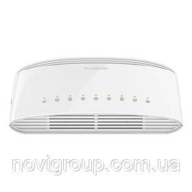 Комутатор D-Link DSG-1008D 8 портів Ethernet 10/100 Мбіт / 1000 Мбіт / сек, BOX Q200