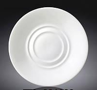 Блюдце фарфоровое Wilmax универсальное белое (15 см)
