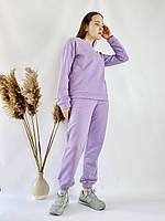 Лавандовый спортивный женский костюм легкий из хлопка размер S, фото 1