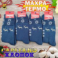 Шкарпетки жіночі махрові високі Capitano 23-25р олень бірюзовий