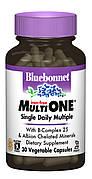 Мультивитамины без железа, MultiONE, Bluebonnet Nutrition, 30 гелевых капсул