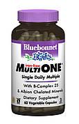 Мультивитамины без железа, MultiONE, Bluebonnet Nutrition, 60 гелевых капсул