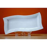 Блюдо фарфоровое прямоугольное фигурное Helfer 21*10 см 21-04-054