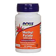 Коэнзим Метилфолат (В9) 1000 мкг, Now Foods, 90 таблеток