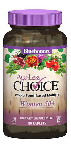 Женские Мультивитамины 50+, Ageless Choice, Bluebonnet Nutrition, 90 капсул, фото 2