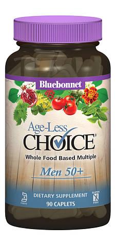 Мужские Мультивитамины 50+, Ageless Choice, Bluebonnet Nutrition, 90 капсул, фото 2