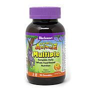 Мультивитамины для Детей, Вкус Апельсина, Rainforest Animalz, Bluebonnet Nutrition, 90 жевательных конфет