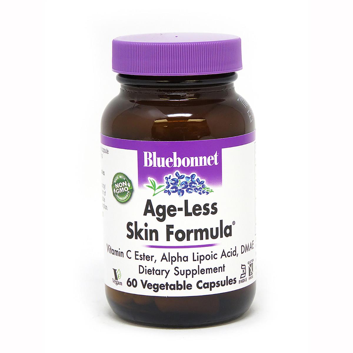 Формула Омоложения Кожи, Bluebonnet Nutrition, Age-Less Skin Formula 60 растительных капсул