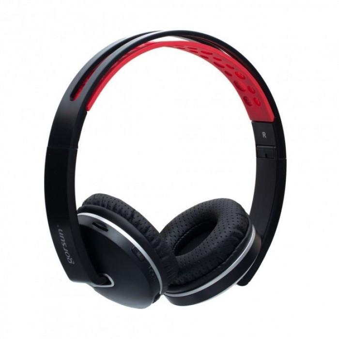 Беспроводные Bluetooth наушники Gorsun GS-E85, Чёрный с красным