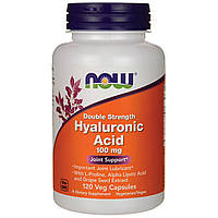 Гиалуроновая Кислота, Hyaluronic Acid, Now Foods, 100 мг, 120 капсул
