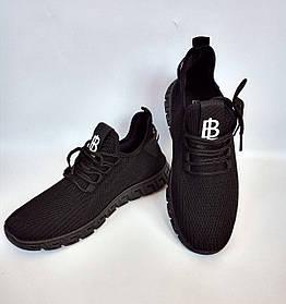 Кроссовки BL-997 сетка демисезонные черные
