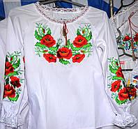 """Вишита блузка для дівчинки """"Червоний мак"""""""