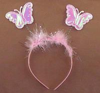 Набор обруч с рожками + волшебная палочка бабочка