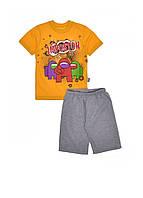"Комплект хлопчикам шорти і футболка з принтом ""Among US"""