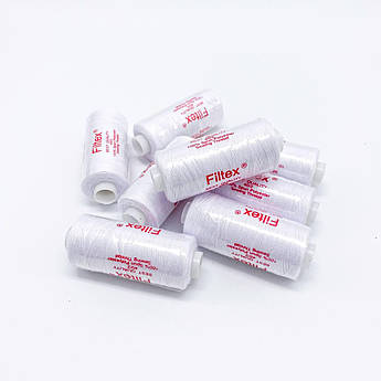 Швейна Нитка 40/20 400 ярдів, біла, маленька катушка